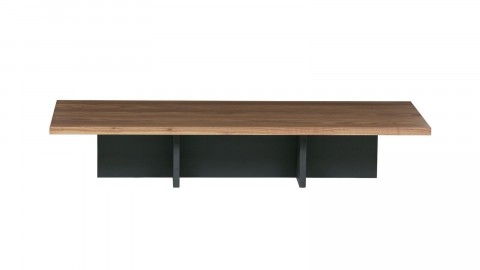 Table d'appoint en bois Naturel et noir - Collection James - Woood