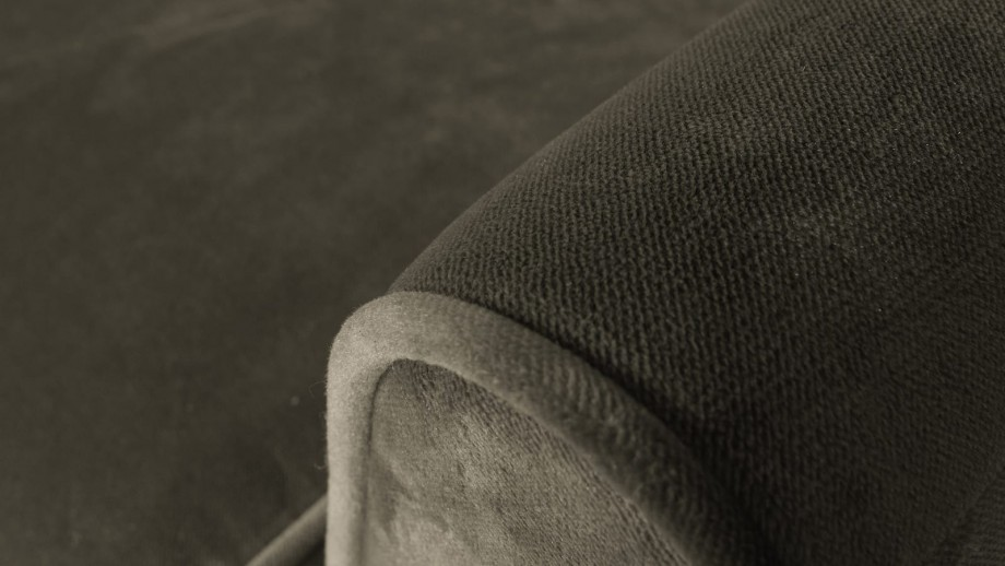 Fauteuil en velours vert chaud - Collection Rocco - Woood