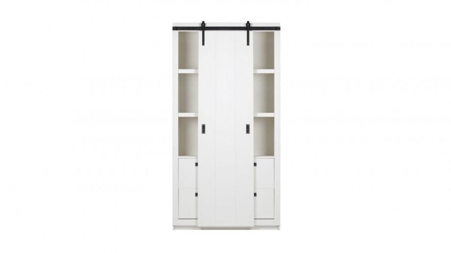 Armoire en pin blanc - Collection Slide - Woood