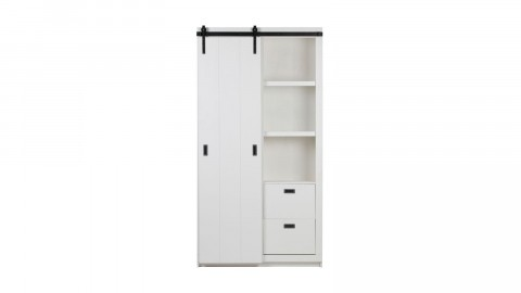 Armoire en pin blanc - Collection Slide - Woood