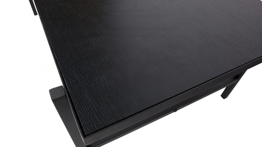 Table basse plateau réversible piètement en métal noir - Collection Turn - Woood