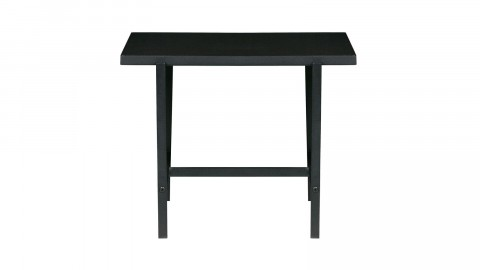 Table d'appoint plateau réversible noir piètement en métal - Collection Turn - Woood