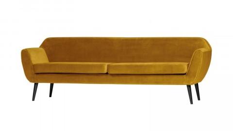 Canapé XL 230cm en velours ocre - Collection Rocco - Woood