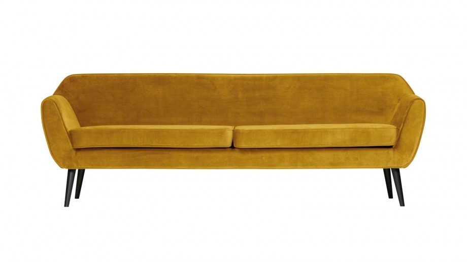 Canapé XL 230cm en velours ocre - Collection Rocco - Woood