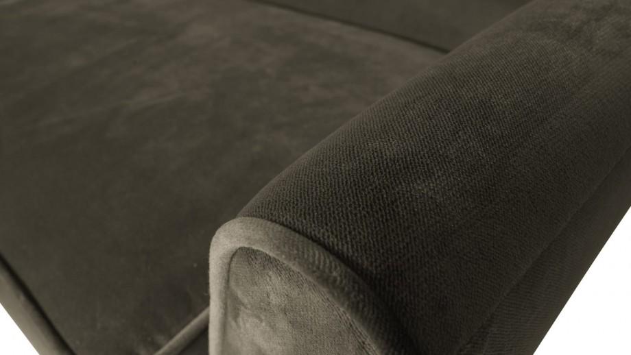 Canapé XL 230cm en velours vert chaud - Collection Rocco - Woood