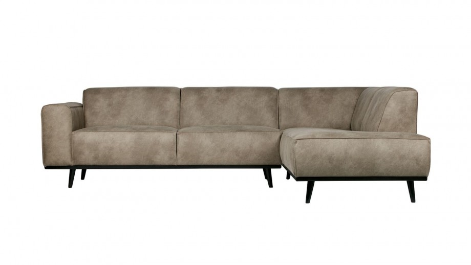 Canapé d'angle droit gris éléphant - Collection Statement - BePureHome