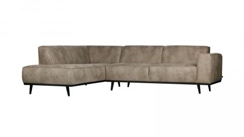 Canapé d'angle gauche gris éléphant - Collection Statement - BePureHome