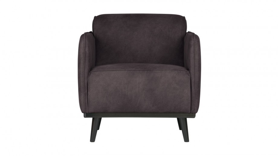 Fauteuil en eco cuir gris - Collection Statement - BePureHome