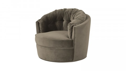 Fauteuil rond kaki - Collection Carousel - BePureHome