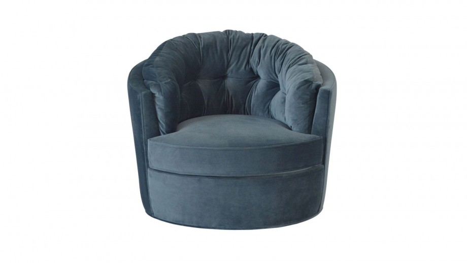 Fauteuil rond Bleu - Collection Carousel - BePureHome