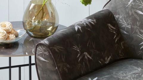 Table basse ronde 48xø80 en marbre noir piètement en métal noir - Collection Vida - Woood