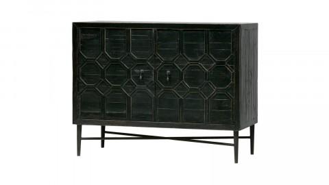 Meuble de rangement 2 portes en bois et métal noir - Collection Bequest - bePureHome