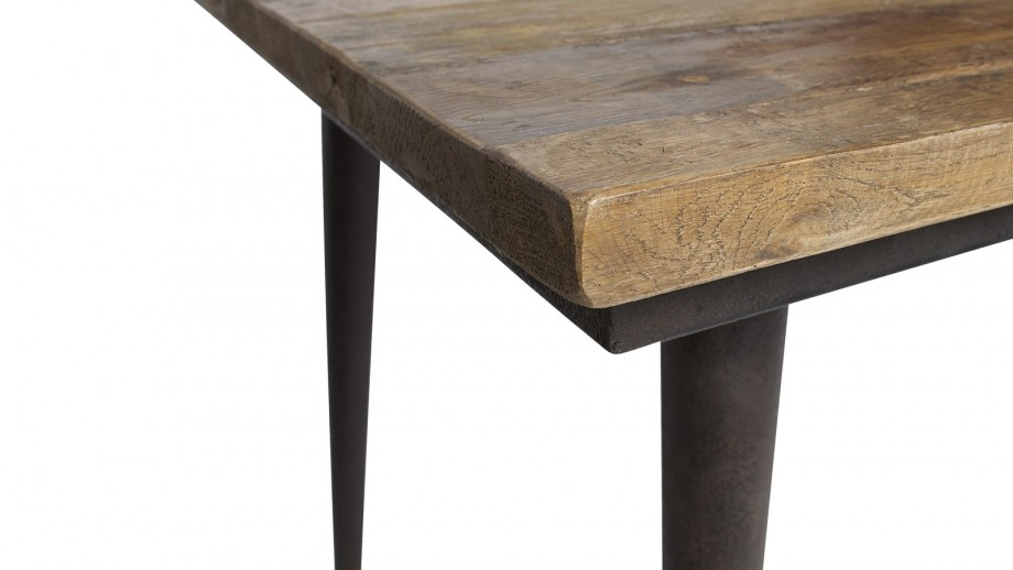 Table à manger 180cm en bois piètement en métal - Collection Guild - Woood