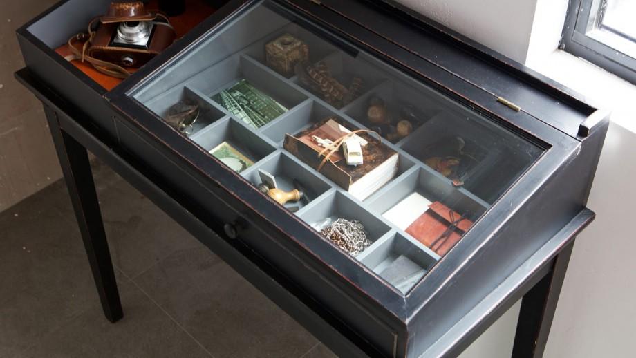 Console avec plateau vitré - Collection Herritage - BePureHome