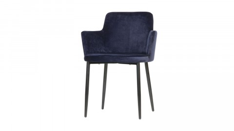Fauteuil en velours Bleu - Collection Tatum - Woood