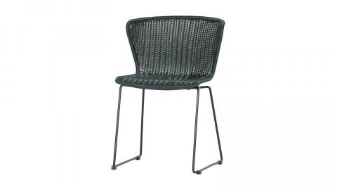Lot de 2 chaises en plastique vert foncé - Collection Wings - Woood