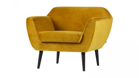 Fauteuil en velours ocre - Collection Rocco - Woood