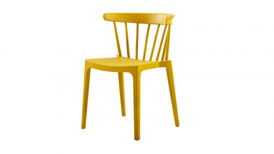 Chaise en plastique ocre - Collection Bliss - Woood