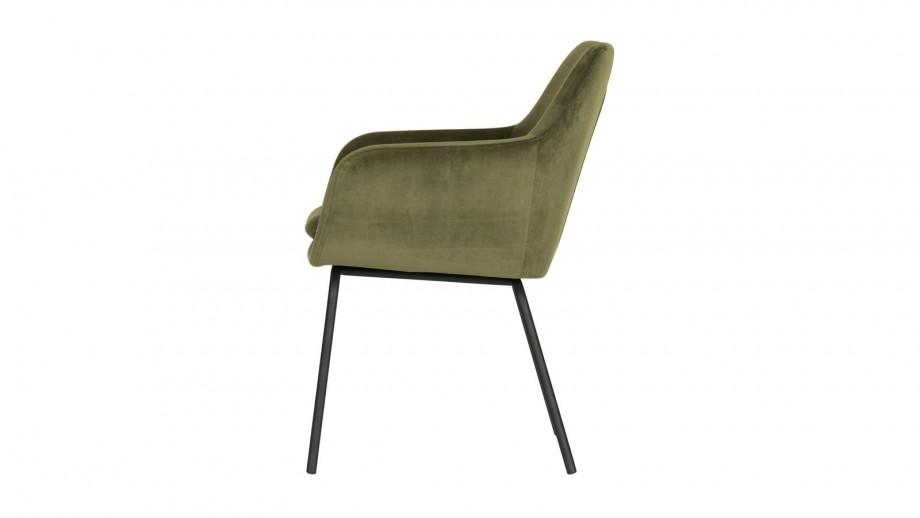 Lot de 2 fauteuils en velours vert - Collection Mood - Vtwonen