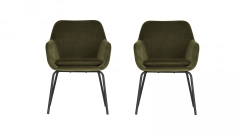 Lot de 2 fauteuils en velours vert - Collection Mood - Vtwonen