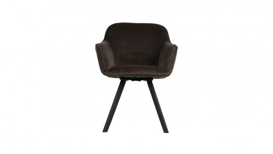 Lot de 2 chaises en velours anthracite - Collection Viggo - Woood