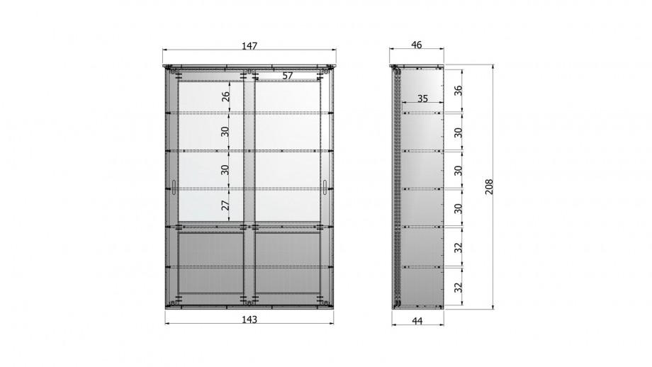 Armoire 2 portes en pin blanc - Collection Vince - Woood