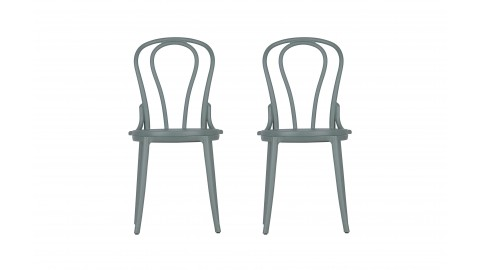 Set de 2 chaises de bistro en plastique jade - Collection Bibi - Woood