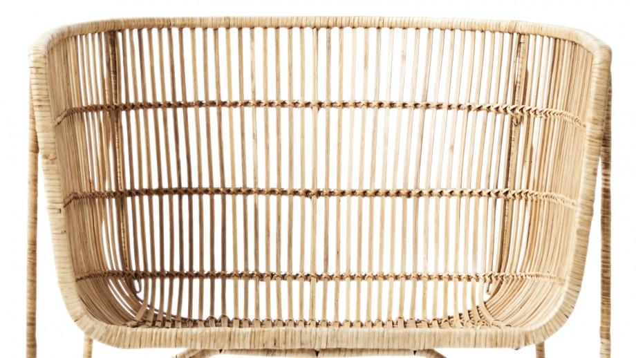 Fauteuil bas en rotin naturel - Collection Cuun - House Doctor