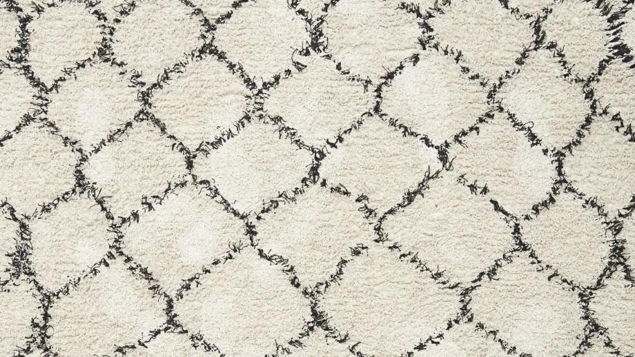 Tapis berbère en coton 180x180cm - Collection Zena - House Doctor