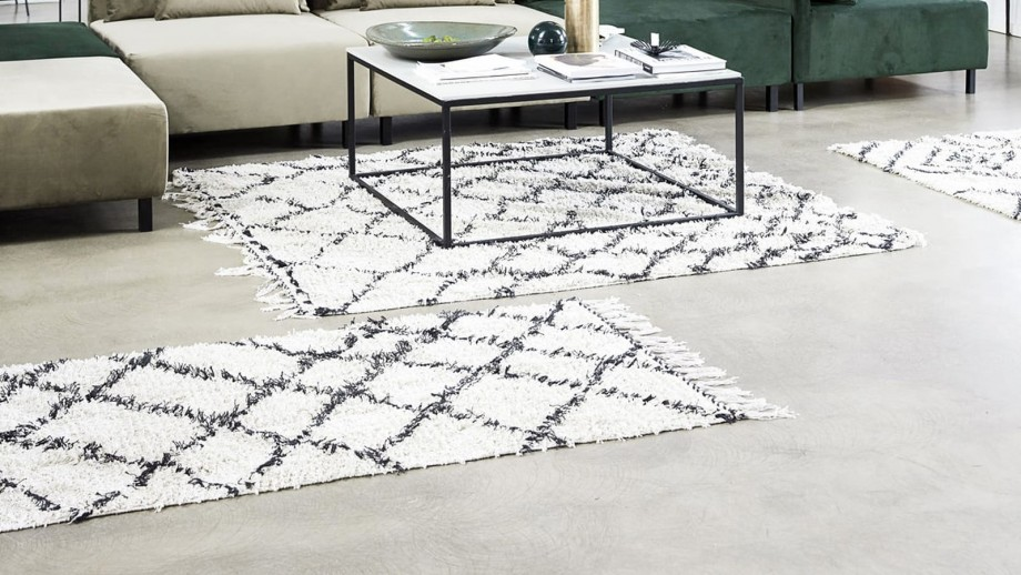 Tapis berbère en coton 90x200cm - Collection Riba - House Doctor