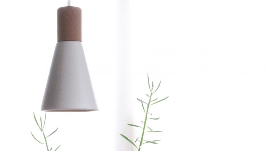 Suspension en céramique et liège blanc mat - Collection Fergus - Red Cartel