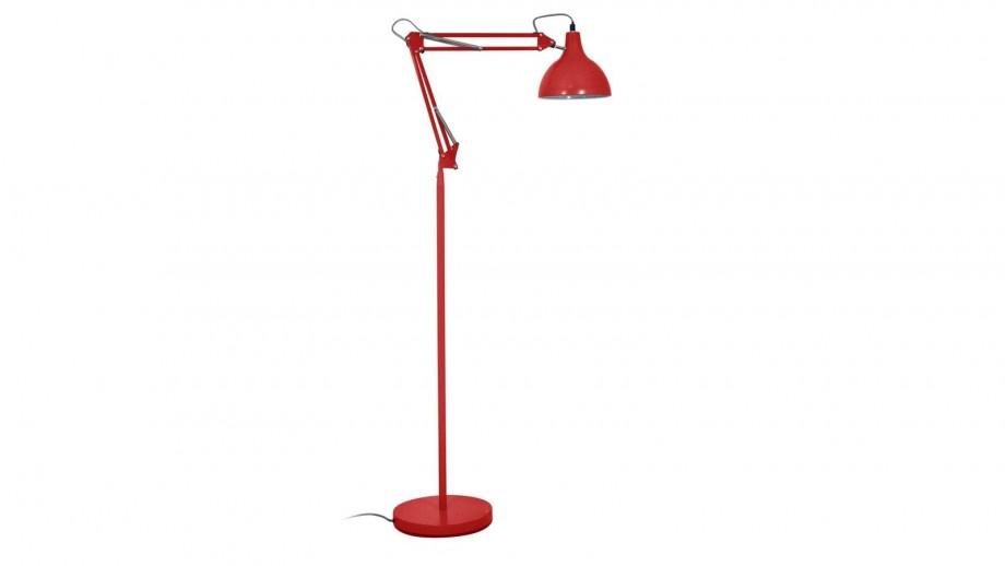 Lampadaire en métal rouge corail mat - Collection Flexo - Red Cartel