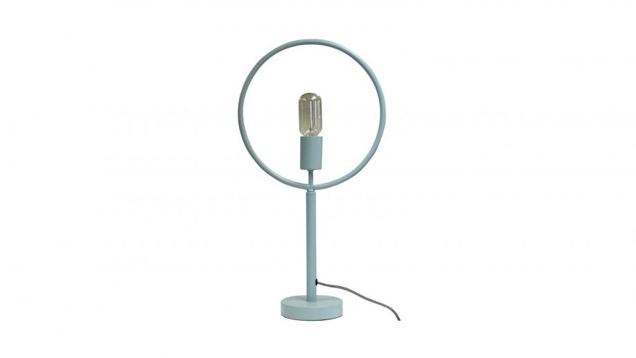 Lampe à poser métal bleu mat - Collection Globus - Red Cartel