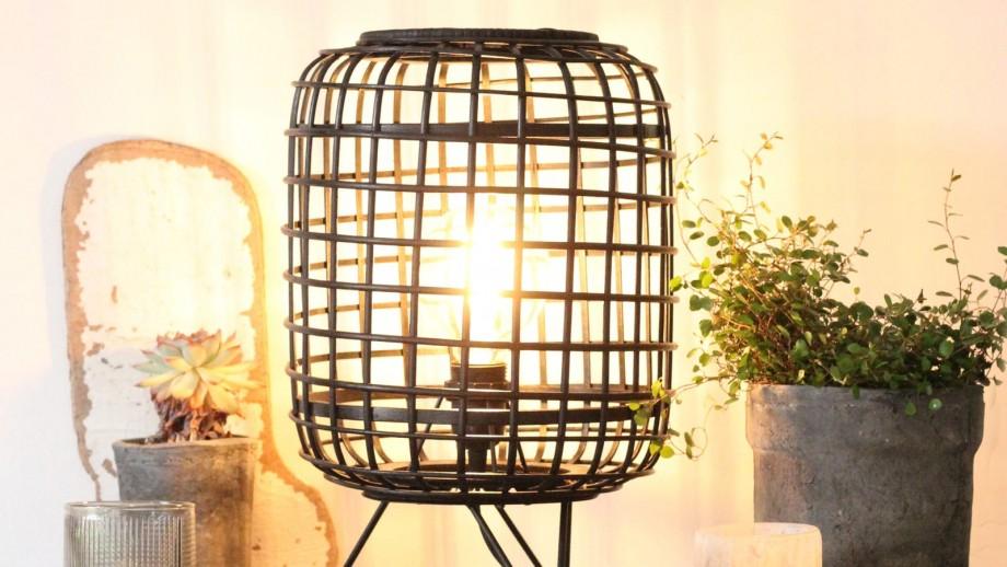 Lampe à poser en rotin et métal - Collection Penang - Red Cartel