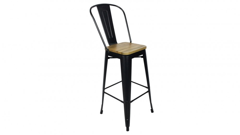 Lot de 2 chaises de bar en acier et bois de pin - Collection Tucker - Red Cartel