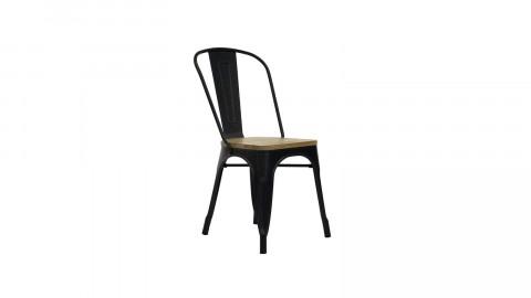 Lot de 2 chaises en acier et bois de pin noir mat - Collection Tucker - Red Cartel