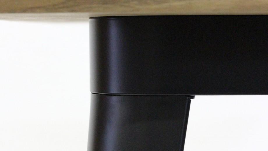 Table 60 cm en acier et bois de pin noir mat - Collection Tucker - Red Cartel