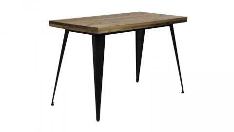 Table 120 cm en acier et bois de pin noir mat - Collection Tucker - Red Cartel