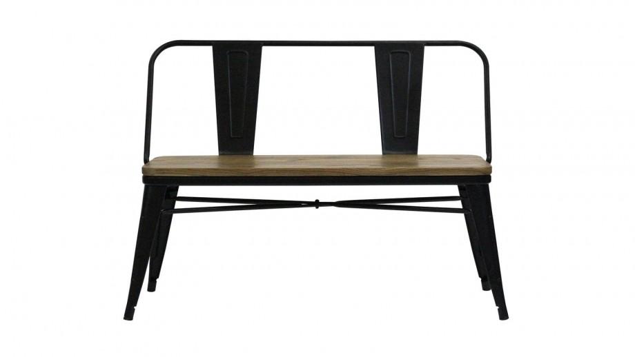Banquette 2 places en acier et bois d'orme - Collection Tucker - Red Cartel