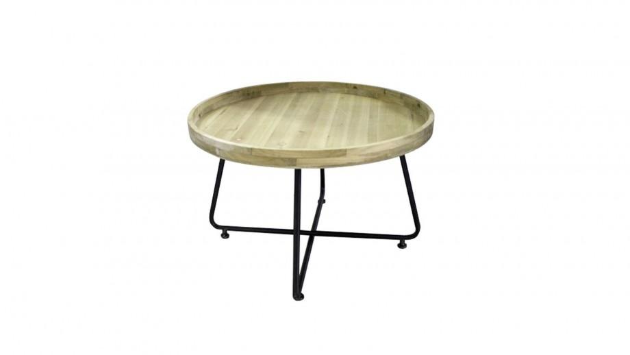 Bout de canapé en bois de pin et métal 75x75cm - Collection Westwood - Red Cartel