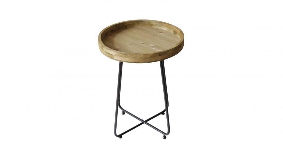 Bout de canapé en bois de pin et métal 45x45cm - Collection Westwood - Red Cartel