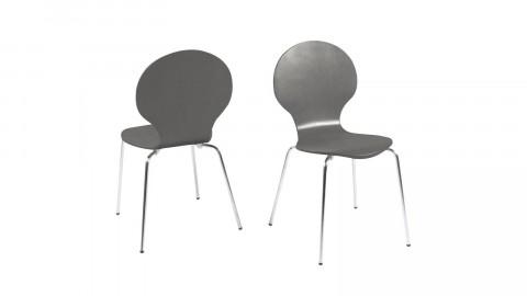 Lot de 2 chaises vintage en métal chromé - Collection Marcus