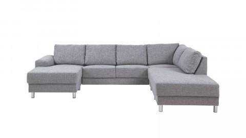 Canapé angle double gris clair - Collection Calverton