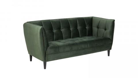 Canapé 2,5 places en velours vert - Collection Jonna
