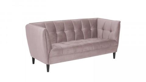 Canapé 2,5 places en velours rose - Collection Jonna