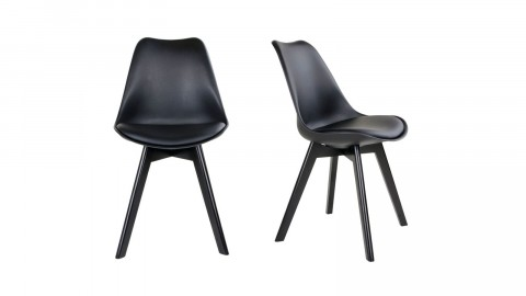 Lot de 2 chaises noires - Collection Viborg - House Nordic