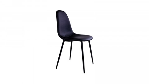Lot de 2 chaises en simili cuir noir - Collection Stockholm - House Nordic