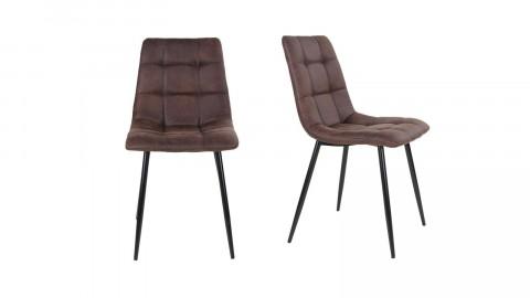 Lot de 2 chaises repas en tissu marron foncé - Collection Middelfart - House Nordic