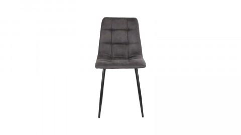 Lot de 2 chaises repas en tissu gris - Collection Middelfart - House Nordic
