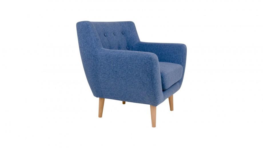 Fauteuil en tissu bleu - Collection Monte - House Nordic